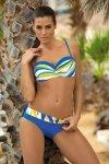Dámské plavky Marko Carlotta Ortensia Blu M-327 modro-žluté