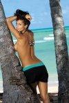 Plážová sukně Marko Meg Nero-Martinica M-266 černo-mořská