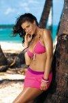 Plážová sukně Marko Meg Gloss Pink Elicious-Sensual M-266 Růžová s fialovou