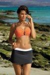 Plážová sukně Marko Meg Squalo-Bianco M-266 grafitovo-bílá