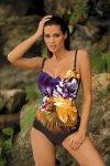 Dámské plavky Marko Caitlyn M-370 Nero-Bright Violet