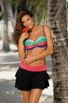 Plážová sukně Marko Mila M-334 Nero-Petunia