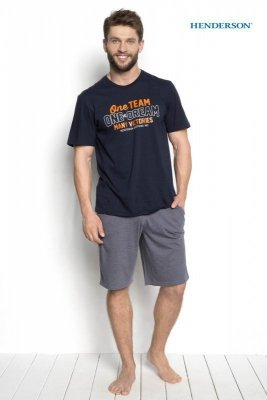 Henderson Duro 34272-59X Tmavě modré Pánské pyžamo