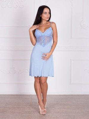 Roksana Beatrice 332 Light Blue (světle modrá) Noční košilka