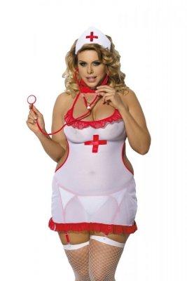Angels Never Sin Shane Sestřička Erotický kostým Size Plus