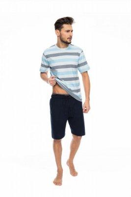 Rossli SAM-PY-085 modrý Pánské pyžamo
