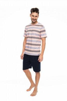 Rossli SAM-PY-085 meruňkový Pánské pyžamo
