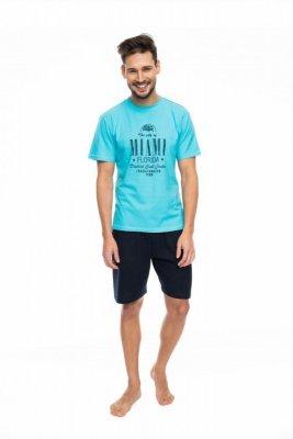 Rossli SAM-PY-087 modrý Pánské pyžamo