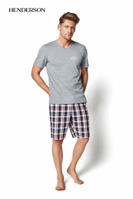 Henderson Mash 35007-90X šedé Pánské pyžamo