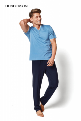 Henderson Mate 34981-59X modro-tmavě modré Pánské pyžamo