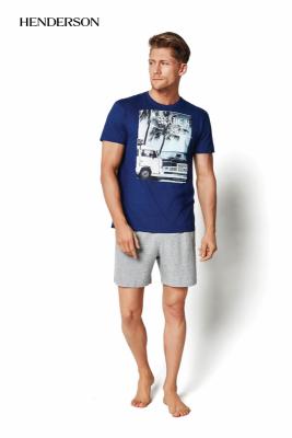Henderson PJ019 34974-55X modré Pánské pyžamo