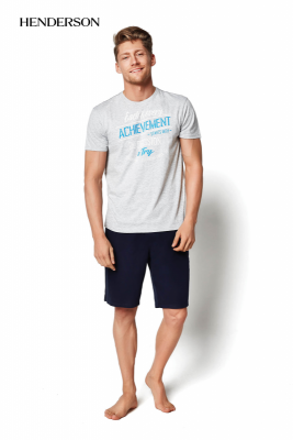 Henderson PJ020 34975-90X šedé Pánské pyžamo