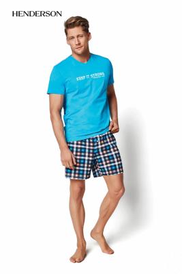 Henderson PJ023 34978-56X Aqua Pánské pyžamo