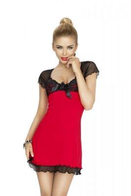 Dkaren Irina červeno-černá Noční košile