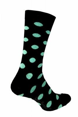 Sesto Senso Classic tyrkysové tečky Ponožky