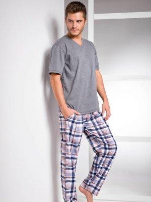 Taro Adam 1073 SS/17 K1 Šedé Pánské pyžamo
