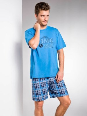 Taro Nikodem 2085 K1 Modré Pánské pyžamo