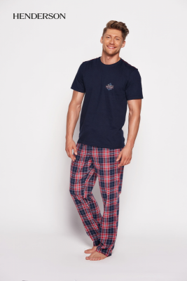 Henderson Sea 35412-59x Tmavě modro-červené Pánské pyžamo