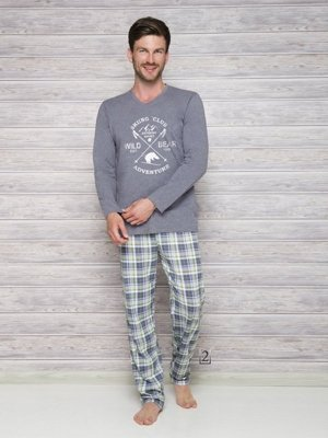 Taro Arek 2130 AW/17 K2 Šedé Pánské pyžamo