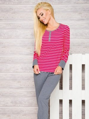 Taro Lisa 2120 AW/17 K1 Růžové proužky Dámské pyžamo