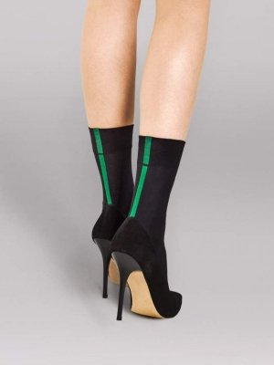 Fiore Metro Black-Green 40 Den Ponožky