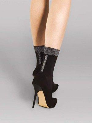 Fiore Metro Black-Lurex 40 Den Ponožky