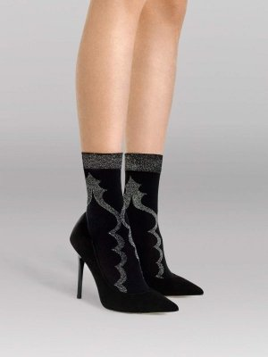 Fiore Miss You Black 40 Den Ponožky