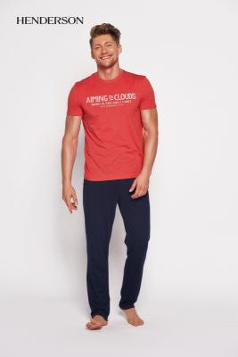 Henderson PJ028 35398-33x Červeno-tmavě modré Pánské pyžamo