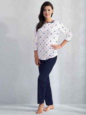 Luna Angelina 593 Tmavě modré Dámské pyžamo