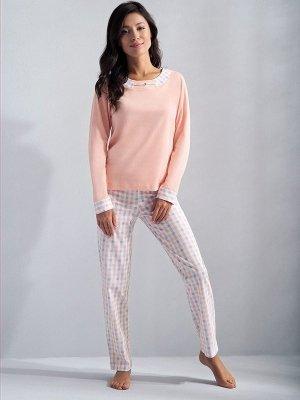 Luna Taylor 574 Meruňkové Dámské pyžamo