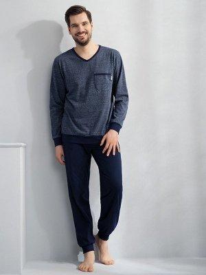 Luna Victor 727 Tmavě modré Pánské pyžamo