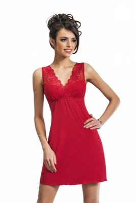Donna Kristina červená Noční košile