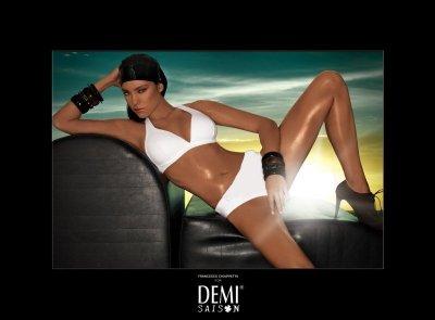 Plavky Demi Saison Lady Madonna bílé