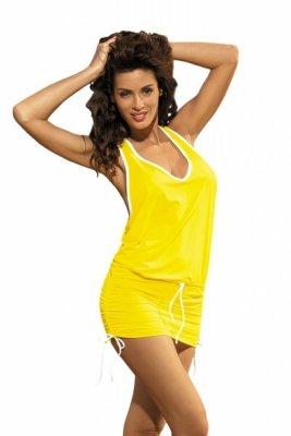 Plážové šaty Marko Elsa Limon M-313 žlutá