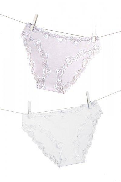 Esotiq Pelina 32793-K003 Bílé + Béžové Kalhotky