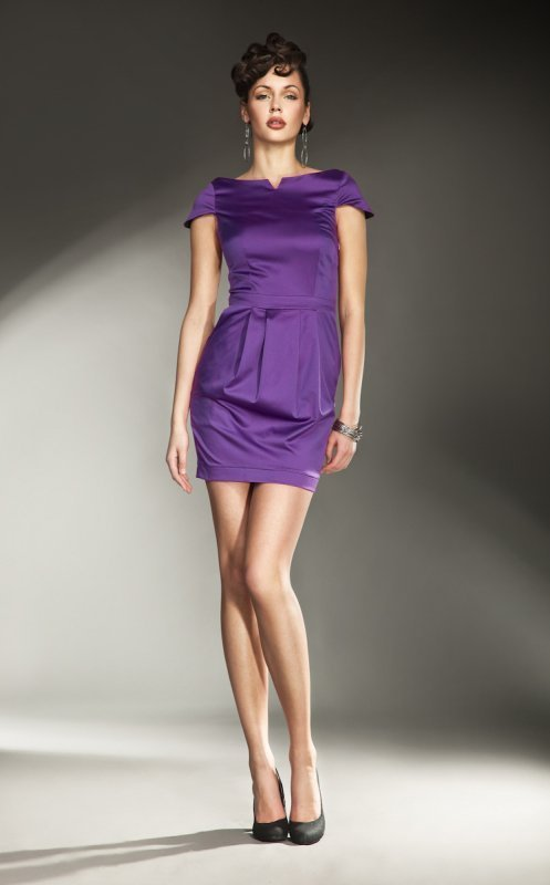 Nife S11 Šaty Allesandria fialové