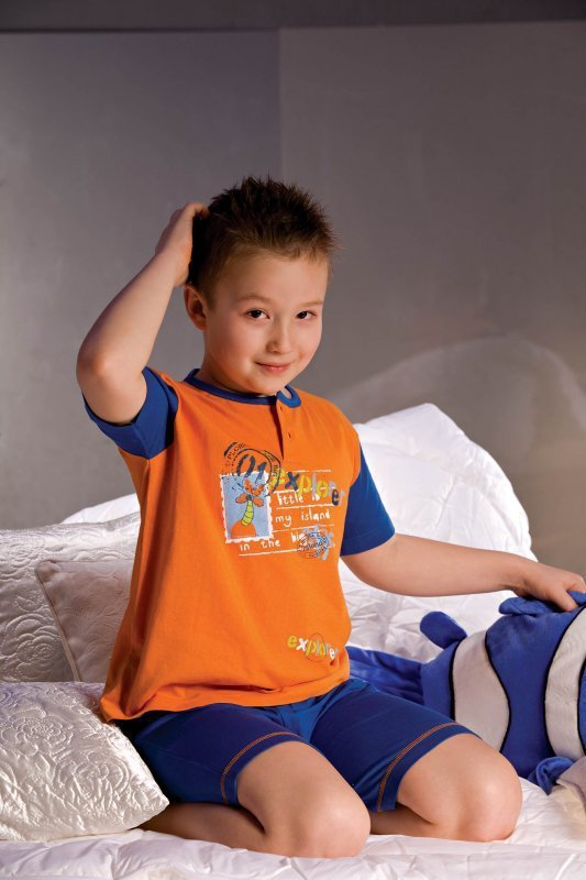 Chlapecké pyžamo Filip 2972 tmavě modro-oranžové