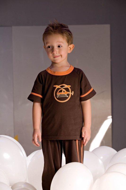 Chlapecké pyžamo Noe 2975 hnědé
