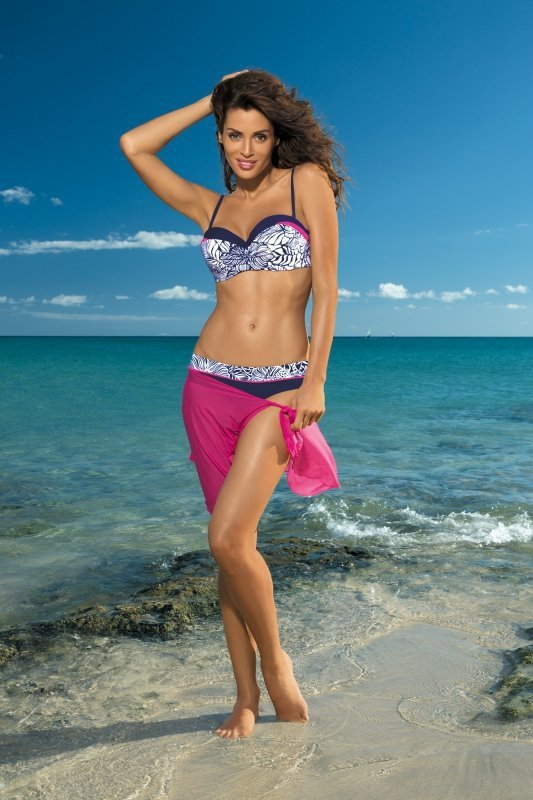 Dámské plavky Marko Cassie Uniform + Rosa Schocking M-315 tmavo modro-růžové