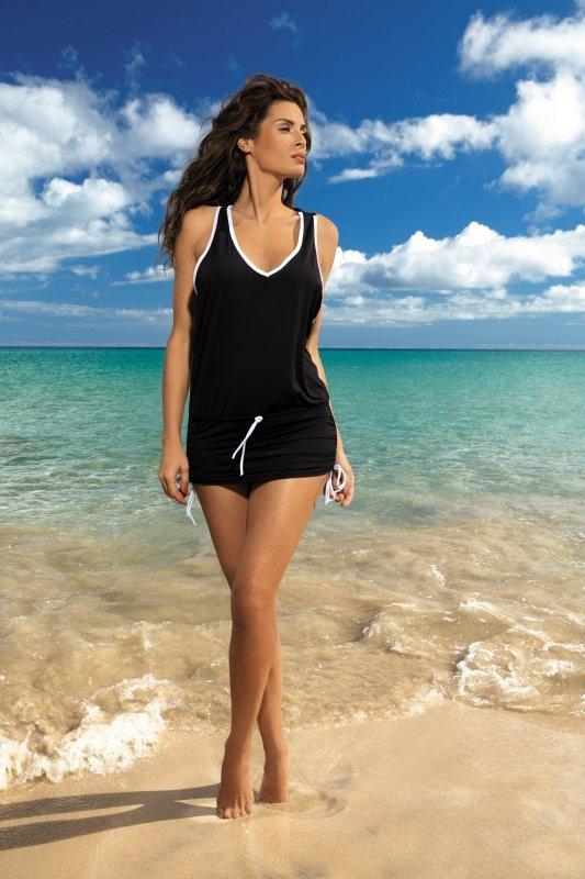 Plážové šaty Marko Elsa Nero M-313 černá
