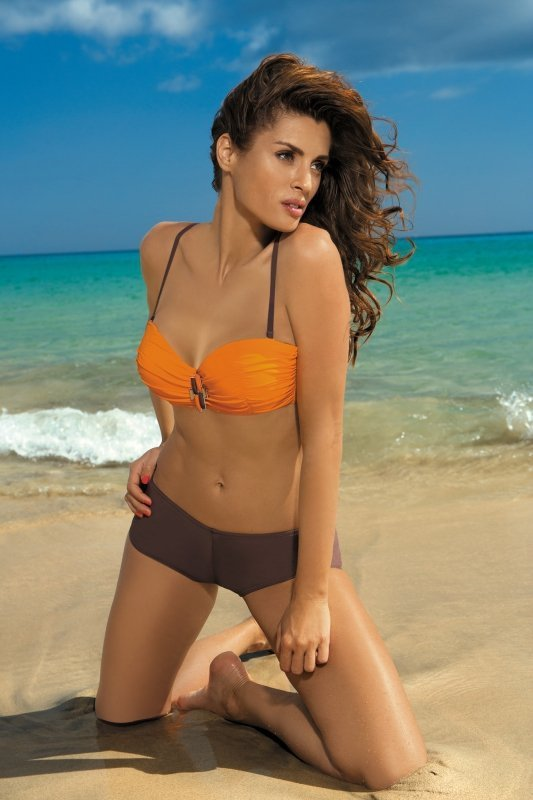 Dámské plavky Marko Tiffany Energy-Cubano M-319 oranžovo-hnědé