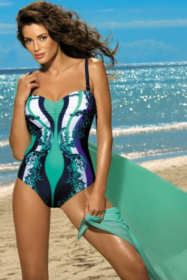 Dámské plavky Marko Miriam Cosmo-Maladive M-329 tmavo modro-smaragdove