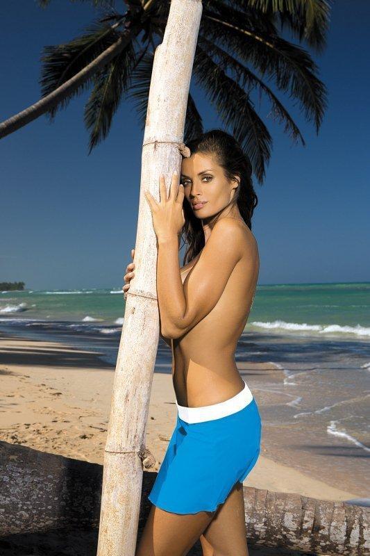 Plážová sukně Marko Meg Surf-Bianco M-266 modro-bílá