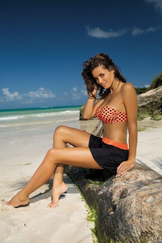 Plážová sukně Marko Meg Nero-Tropico M-266 černo-oranžová