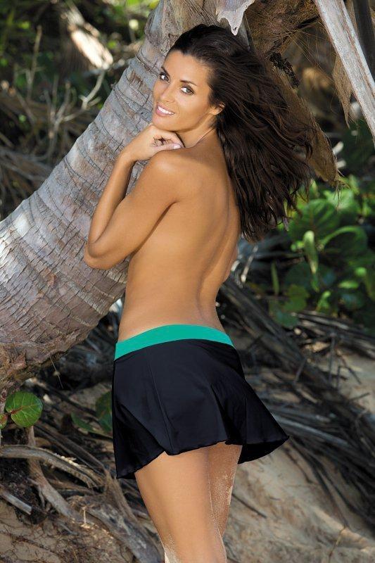 Plážová sukně Marko Meg Nero-Maldive M-266 černo-zelená