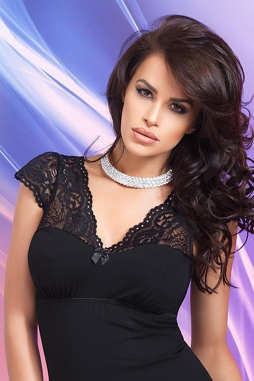 Donna Diana černá Noční košile