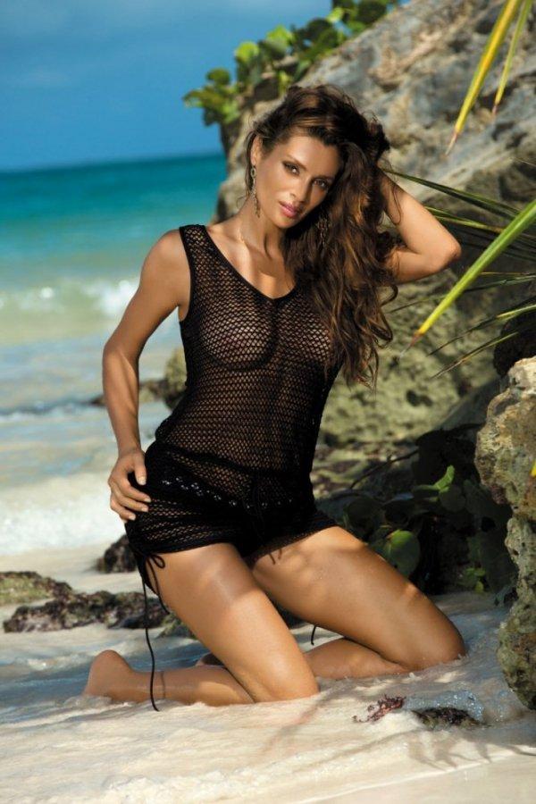 Plážové šaty Marko Rose M-382 Nero