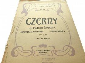 40 TAGLICHE UBUNGEN OP. 337 - Czerny