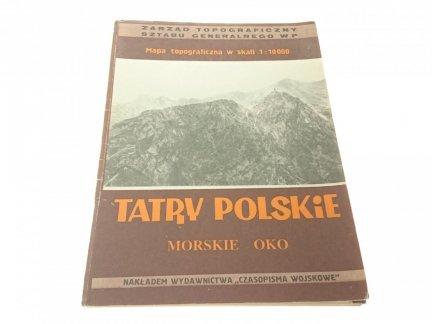 TATRY POLSKIE. MORSKIE OKO. MAPA TOPOGRAFICZNA