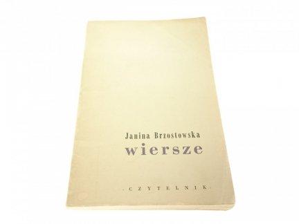 WIERSZE - Janina Brzostowska